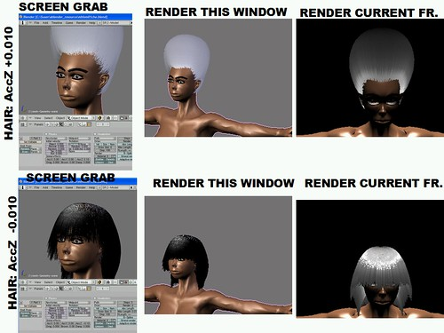 Blender: Hair up or Down?