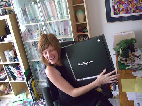 Hugs to my new Macbook Pro