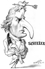 SCHILLER, Friedrich Von (Morales de los Ríos) Tags: writers caricaturas philosophers caricatures escritores filósofos