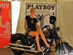 Barcelona Harley Days 08 (andres.moreno) Tags: barcelona girl fuji chica days harley finepix rubia playboy davidson 08 s5800
