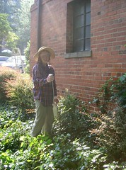 Heather Sprays the Poison Ivy
