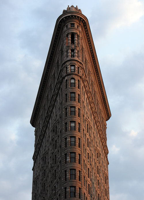 top of the Flat Iron Building, Manhattan, NYC