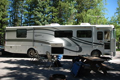 Camping at Mt. Kidd RV Park in Kananaskis Alberta Canada Kananaskis