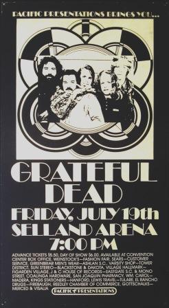 Grateful Dead - 7/19/74 Selland Arena - Fresno, California