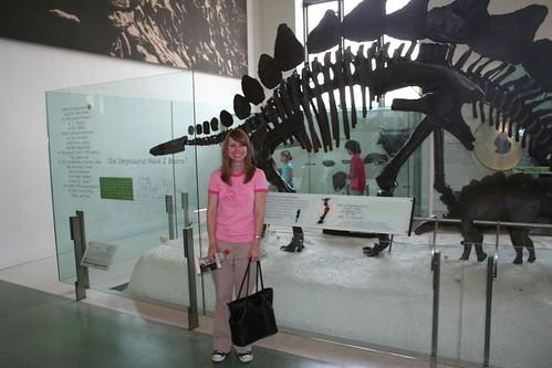 Kari and stegosaurus
