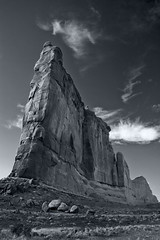 Courthouse Towers (Vampire Black Cat) Tags: bw usa america utah explore moab archesnationalpark courthousetowers bwphotoaward diamondclassphotographer flickrdiamond ysplix excapture betterthangood worldwidelandscapes mg4537bwbps002