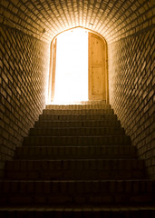 Stairway to Heaven (Recovering Sick Soul) Tags: light brick stairs dark stair iran stairway iranian   nima lightsource yazd lighttodark   fatemi   nimafatemi