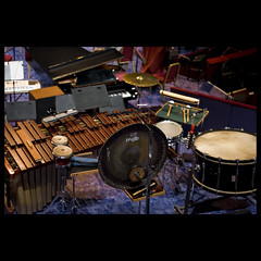 London - Percussions (fotobicchio) Tags: england london royalalberthall nikon d70 percussion royal orchestra cassa marimba piatto scecilia