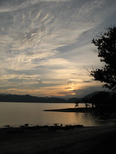 Sunset over Lake Towada