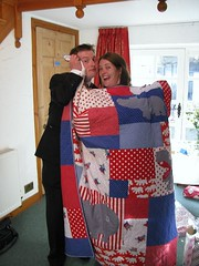 Megan & Neil with the quilt