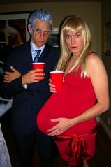 Projection Runway (danimaniacs) Tags: red halloween drag heidi costume klum pregnant wig fashio tomlenk timgunn