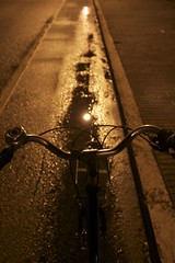 to home- A.R (ALERAI {subsidiary&book exercises}) Tags: italy rain bike night canon noretouched dialettica alerai alessandraraimondi