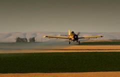 Crop Duster (Scott Butner) Tags: farm wheat farming harvest ag agriculture cropduster wheatharvest