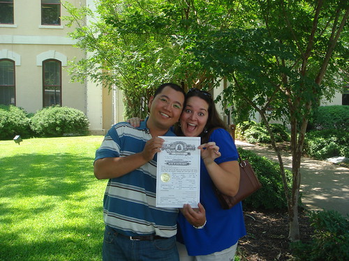 We got our Marriage Licence!! :)