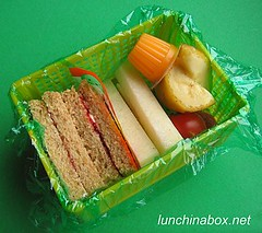 Sandwich & jicama lunch for preschooler