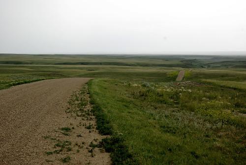 The Road into Grasslands National Park