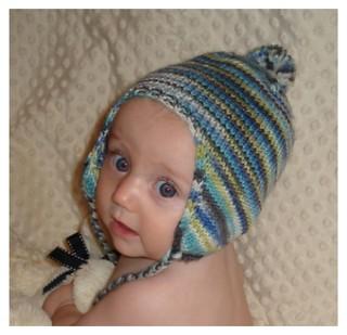 Ravelry: BABEE CHULLO Baby Earflap Hat pattern by Bobbi ...