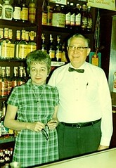 John and Leona Ladner behind the bar (jjlthree) Tags: family chicago bar john brothers business madison tavern punch ladner cohasset leona