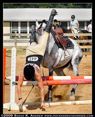 Flying Dismount (Rock and Racehorses) Tags: horses horse fall grey jump gray spill jumpers showjumping refusal citrit greythoroughbred tenorverse flyingdismount
