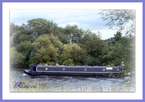 Narrow Boat On The River