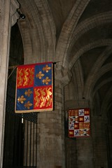 (beery) Tags: grave heraldry cathedral banner royal tudor aragon peterborough peterboroughcathedral royalarms catherineofaragon katherineofaragon castileleon lionsofengland leopardsofengland royalarmsofengland aragonsicily