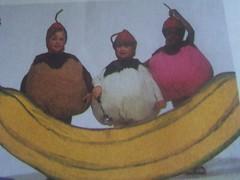 Banana Split Halloween Costume Pattern (nickandnessies) Tags: etsy vintage for sale pattern costume simplicity halloween children girls boys banana split ice cream egg ball humpty dumpty sew sewing diy weird tennis pumpkin baseball 7415 kitsch