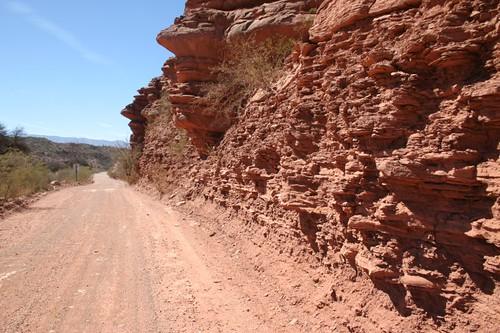 Ripio (gravel road) near Cuesta de Miranda, NW Argentina.