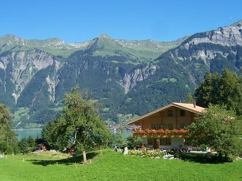 Swiss house overlooking Brienz