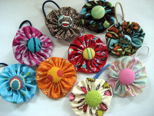 uppitydo daisies ponytail holders