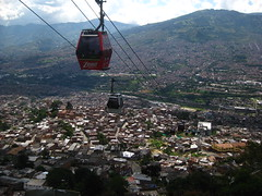 Medellin's Metrocable in Santo Domingo