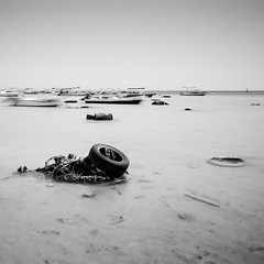 Dream (Ageel) Tags: longexposure red sea summer sky bw white seascape black art beach water square lens photography nikon rocks squares redsea fineart tripod cost sigma wideangle explore filter saudi sa jeddah 1020mm sq saudiarabia bnw squared hoya ksa d300 hejaz sigma1020mm longexp nd400    jiddah   explored   ageel  nikond300  bwsquare