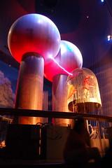 Boston Museum of Science, Theatre of Electricity, Van de Graaff Generator towers -- ZAAAPPPP!