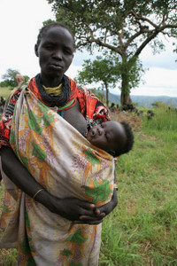 Mother and child in Karamoja