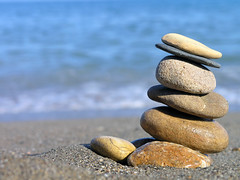 Beach macro composition 2 (Romeodesign) Tags: sea macro beach stone sand shell clam pebble zen seashell rockbalancing mywinners aplusphoto platinumheartaward