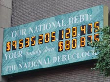 National debt clock in the good old times