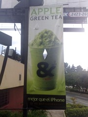 Apple Green Tea (Oscar Mota) Tags: apple cafe greentea iphone antioxidante