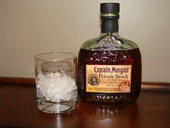 Captain Morgan on the rocks (John Jelly) Tags: whiskey liquor booze rum captainmorgan captnmorgan