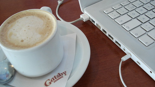 MacBook in a Cafe