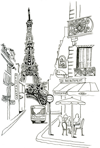 rue St. Dominique and Eiffel Tower / Maral Sassouni