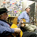 Tom Paxton & Liam Clancy in the dressing-room @ The Bitter End on Bleeker Street in Greenwich Village NYC
