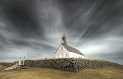 Strandakirkja ... (asmundur) Tags: old sky church clouds coast iceland bravo south halo holy hdr pledge 3xp strandakirkja