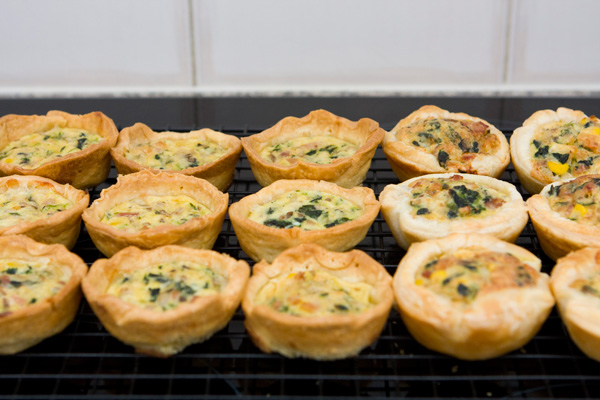 MIni quiches.. mmm.. yum