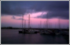 Harbour at Dusk (petitillusion) Tags: sea portugal boats holidays harbour mybirthday peniche ilustrarportugal srieouro