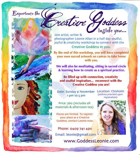 Special Announcement: Creative Goddess workshop