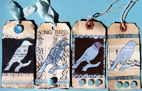 Blue Bird Tags by MyTangerineDreams, on Flickr
