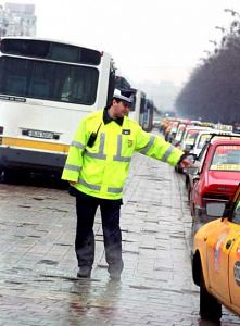 politia romana in actiune, agent de politie in trafic