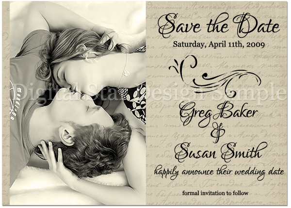Save the Date Sample, 6x4 (web size)