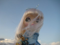 Miss Potter (jentutu) Tags: sky rabbit toy toys doll wind barbie potter blow collection peter blythe beatrix diva darling takara tale tomy collector cwc rbl