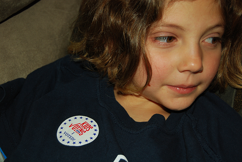 Grace with Voting Sticker
