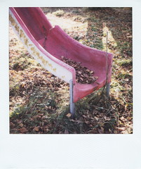 slide (So gesehen.) Tags: red nature playground rural polaroid schweiz switzerland lofi slide crack scanned polaroidlandcamera polaroid600film autaut kantonschwyz polaroid2000 sx70moddedfor600 willerzell panpola
